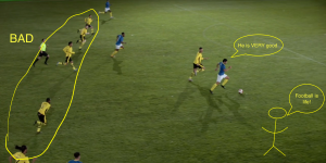 Rojas on Right Flank
